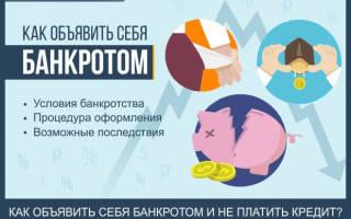 Что значит признать себя банкротом