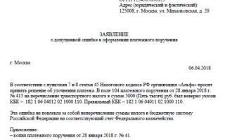 Образец заявление об уточнении реквизитов платежного поручения